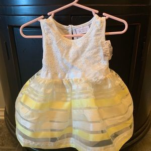 Children's place yellow and white dress